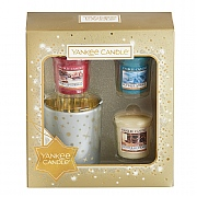 Yankee Candle Holiday Sparkle Votive & Holder Gift Set
