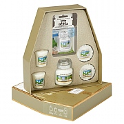 Yankee Candle Holiday Sparkle Clean Cotton Gift Set