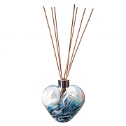 Amelia Art Glass Turquoise & White Heart Reed Diffuser
