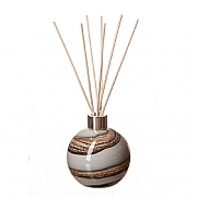 Amelia Art Glass Smoked Meadow Sphere Reed Diffuser