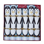 "Robin Reed Racing Penguin 13"" Christmas Crackers Pack of 6"
