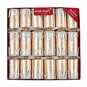 "Robin Reed Glittering Wintertide 12"" Christmas Crackers Pack of 6"