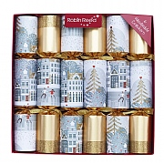 "Robin Reed Sparkle Town 12"" Christmas Crackers Pack of 6"