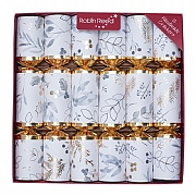 "Robin Reed Gold Foliage 12"" Christmas Crackers Pack of 12"