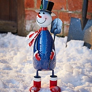 Polka Frosty The Snowman Nodding Character