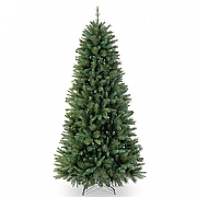 7ft Rocky Ridge Slim Pine Artificial Christmas Tree