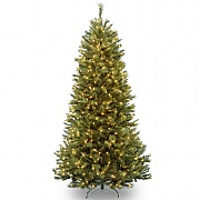 7ft Pre-Lit Rocky Ridge Slim Pine Artificial Christmas Tree