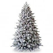 6.5ft Pre-Lit Snowy Dorchester Pine Artificial Christmas Tree