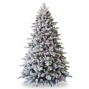 7.5ft Pre-Lit Snowy Dorchester Pine Artificial Christmas Tree