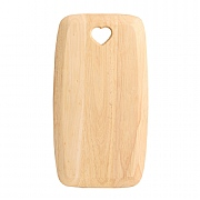 T&G Woodware Heart Cutout Wooden Chopping Board - Small