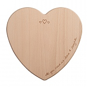 Sophie Conran Heart Shaped Love & Laughter Beech Chopping Board