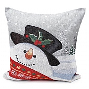 Peggy Wilkins Frosty Snowman Christmas Complete Cushion