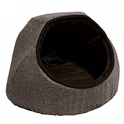 Rosewood 40 Winks Grey Tweed Hooded Cat Bed - Grey