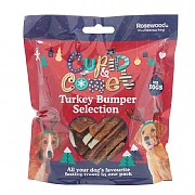 Rosewood Turkey Treats Bumper Selection Pack For Dogs 300g