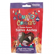 Rosewood Sweet Potato Festive Antlers for Dogs 2 Pack 110g