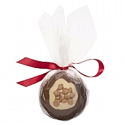 Cocoba Milk Chocolate & Gold Caramel Christmas Bauble 100g