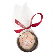 Cocoba Milk Chocolate & Marshmallow Christmas Bauble 100g