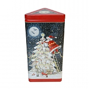 Grandma Wild's Embossed Santa Up A Christmas Tree Biscuit Tin 150g