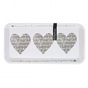 Heart Design Melamine Serving Tray - Small