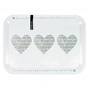 Heart Design Melamine Serving Tray - Large