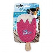 All For Paws Chill Out Strawberry Ice Cream Cooling Dog Toy