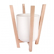 Scandi Beech Planter & Pot - 25x22cm