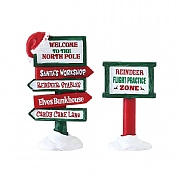 Lemax North Pole Signs (Set of 2)