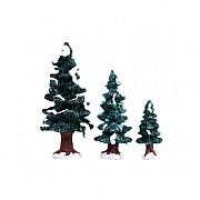 Lemax Christmas Evergreen Tree - Set of 3
