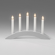5 Bulb Candlestick Welcome Light - Grey