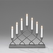 7 Bulb Metal Candlestick Welcome Light - Grey