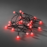 Konstsmide 50 Red LED Battery Operated Cherry String Lights