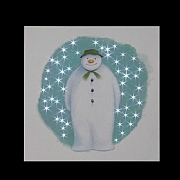 The Snowman Pre Lit LED Canvas 30x30cm