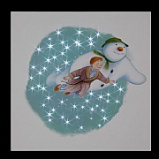 The Snowman and James Pre Lit LED Canvas 30x30cm