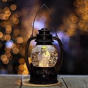 The Snowman LED Water Globe Lantern 20cm