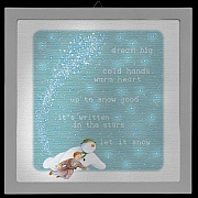 The Snowman & James LED Photo Frame 23x23cm