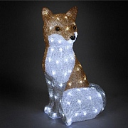 The Snowman Acrylic LED Fox 54cm