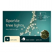 672 Warm White LED Tree Bunch Lights (Green Cable)