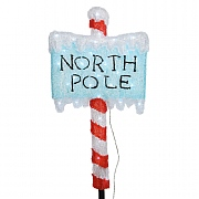 Acrylic LED North Pole Sign 65cm