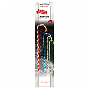 Set of 4 LED Candy Cane Path Lights 62cm