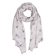 Wrendale 'Glamour Puss' Cat Grey Scarf