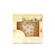 PopaBall Shimmer Bubbles For Prosecco - Peach