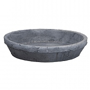 Fallen Fruits Grey Terracotta Saucer Round