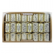 Beautiful Christmas Gold Holly Premium Christmas Crackers - 8 Pack