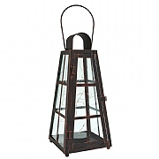 Lincoln Lantern with Micro Lights Bronze