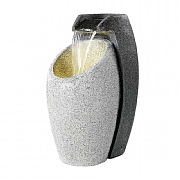 Kaemingk Oval Urn Cascade Water Feature Grey 65cm