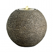 Kaemingk Carved Granite Ball Fountain Grey 45cm