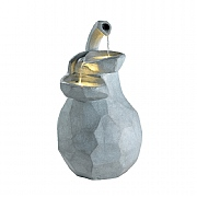 Kaemingk Pear Fountain Water Feature Grey 56cm