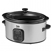 Beko Stainless Steel Digital Slow Cooker 6L
