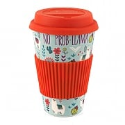Cambridge Llamas Folk Bamboo Eco Travel Mug
