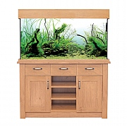 Aqua One Oak Style 230 Aquarium & Cabinet - Oak Effect
